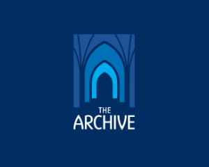 Color dark blue archive logo