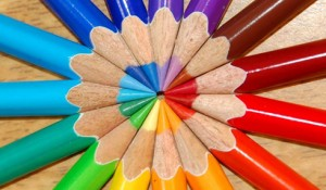 color wheel pencils