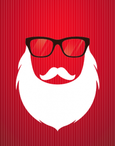 Funky santa claus hairstyles with long white beard style for men in