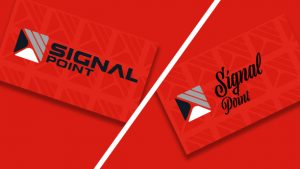 two different designs signal point business cards