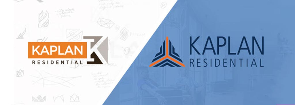 Company Logo and Branding Design for Kaplan Residential from Sketches to Final New Logo