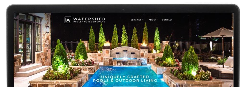 Digital Marketing Agency Website Design for Watershed Pools