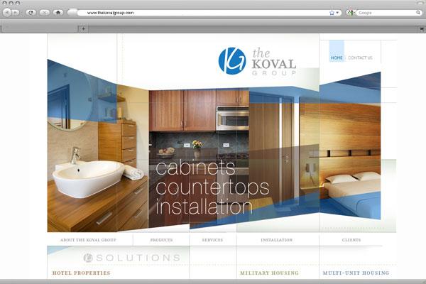 Website design for The Koval Group.